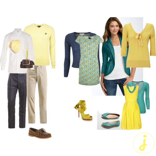 no worries here are a few ideas for a yellow turquoise color scheme
